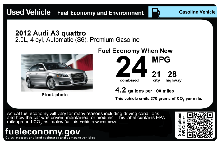 Fuel Economy Sticker Revs Up Used Car Sales « Breaking Energy