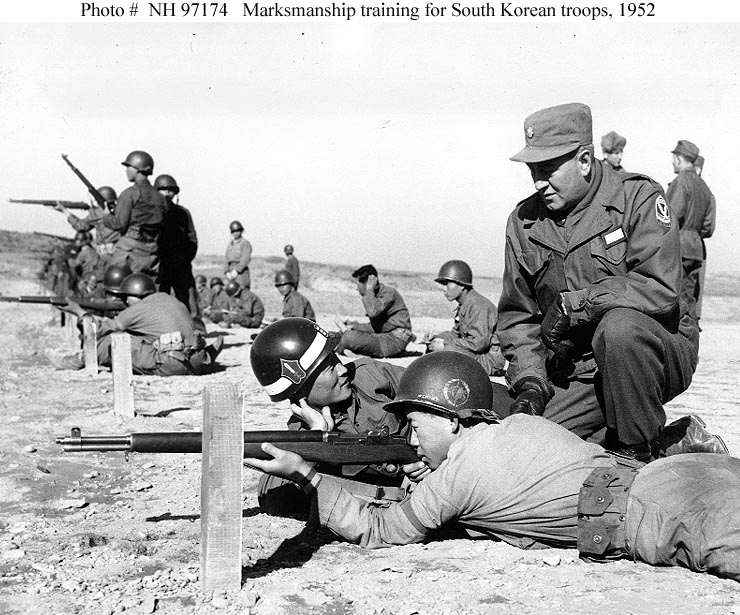 US advisors train South Korean troops in 1952. 61 years later, Seoul remains reluctant to take full command on the peninsula.