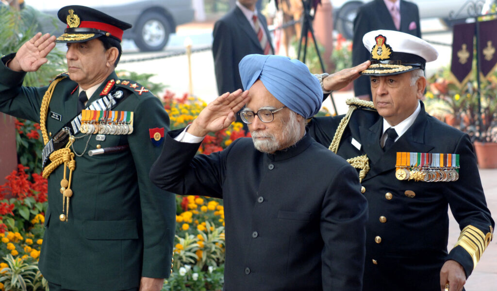 India's Prime Minister Manmohan Singh, seen here at a military parade, will meet with President Obama on Friday.