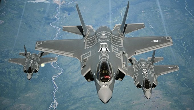 F-35As in flight