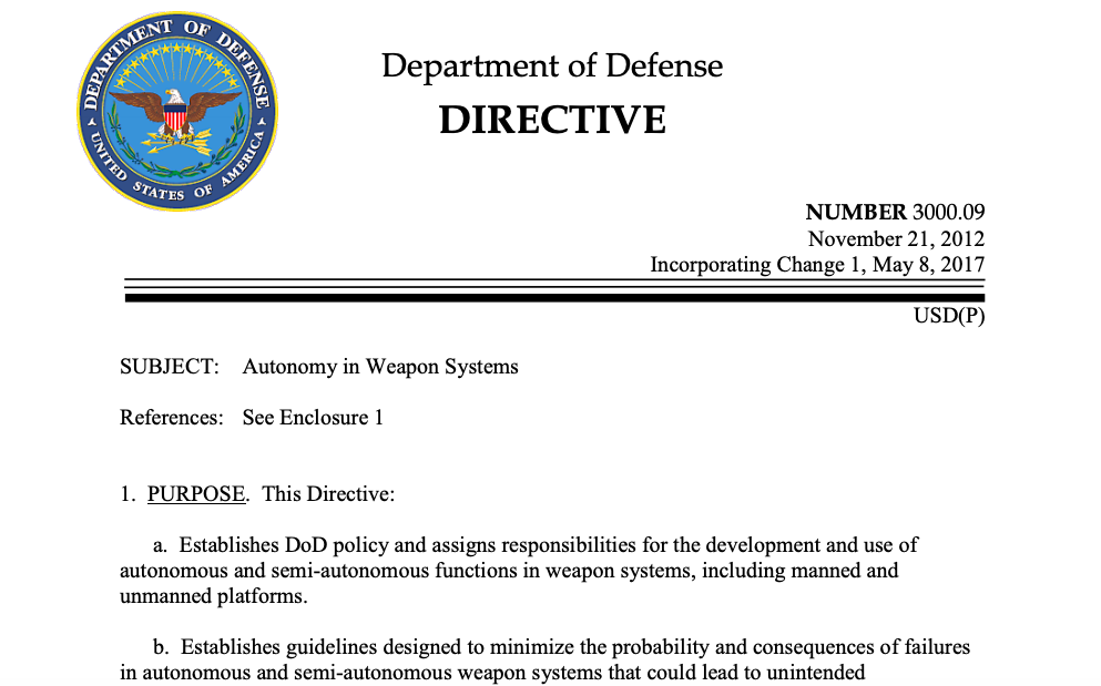 screenshot of DoD website