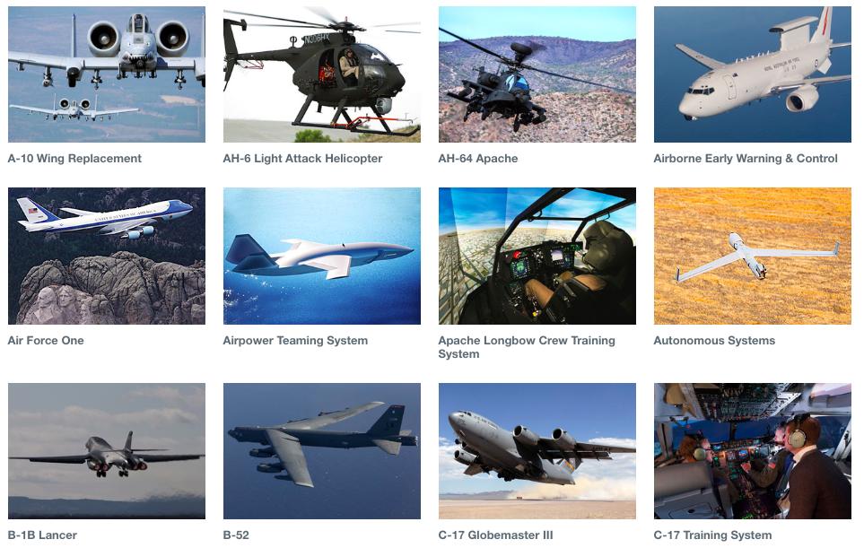 screencap from Boeing.com