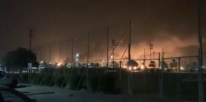 Fires after Iranian strikes on Saudi Arabian oil facilities