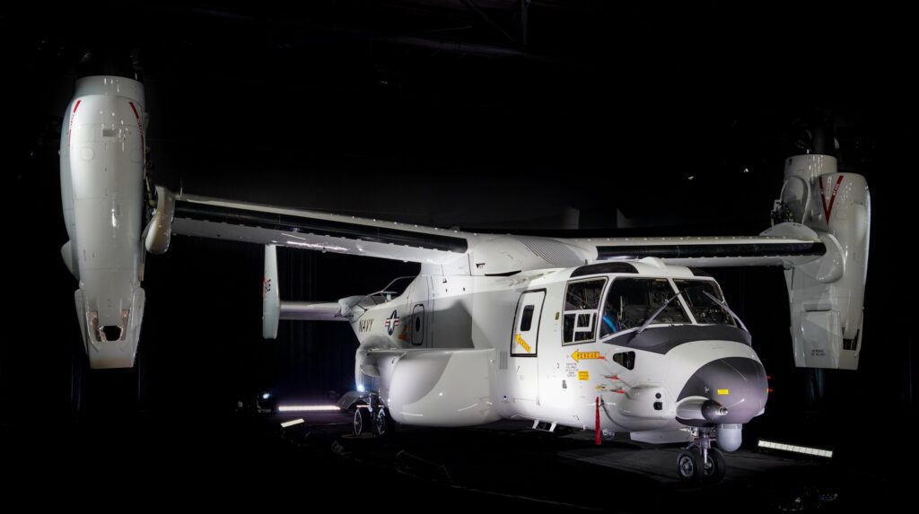 First CMV-22 delivered to the US Navy