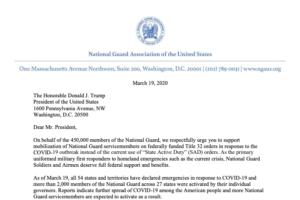 screenshot of NGAUS letter