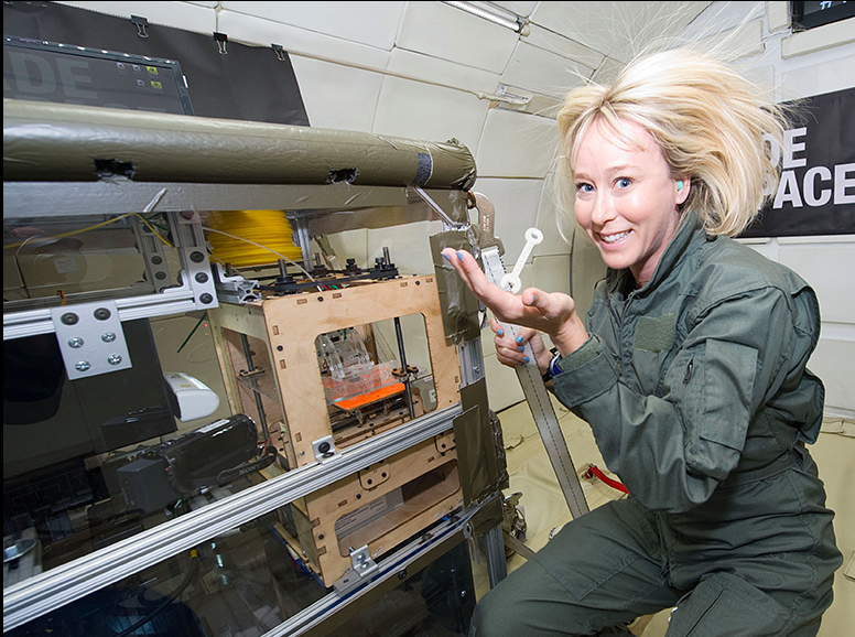 NASA has been experimenting with 3D printing on ISS since2014